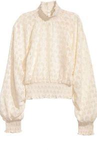 H&M Ruffled Blouse in Cream